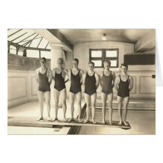 1922 Swim Team Card