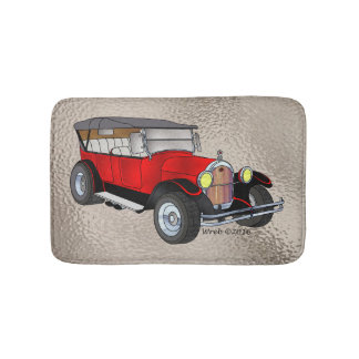 1923 Olds Touring, Red - Bath Mats