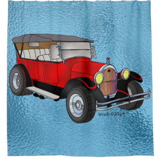1923 Olds Touring – Red Shower Curtain