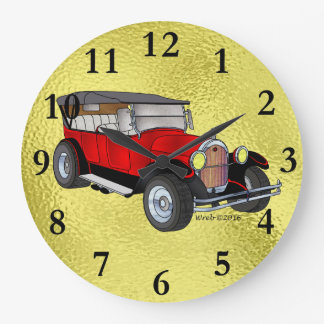 1923 Olds Touring, Red - Wall Clocks