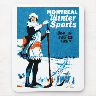 1924 Montreal Winter Sports Poster Mouse Pad