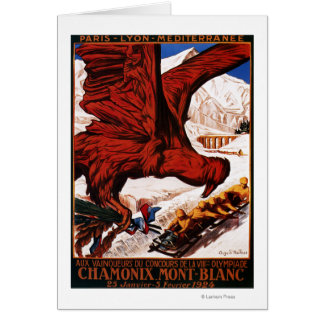 1924 Olympic Winter Games Poster Card