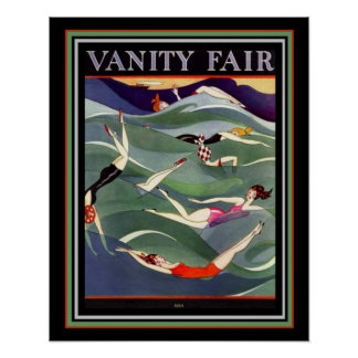 1924 Vanity Fair Deco Swimsuit Cover 16x20 Poster