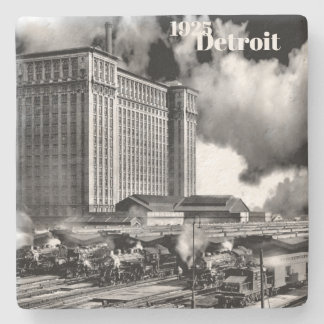 1925 - Detroit Michigan Central Depot Stone Coaster