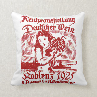 1925 German Wine Festival Cushion