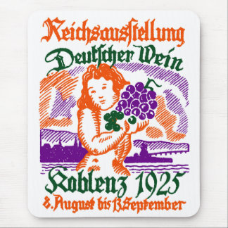 1925 German Wine Festival Mousepads