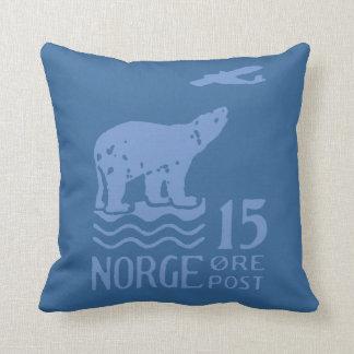 1925 Norwegian Polar Bear Throw Pillows