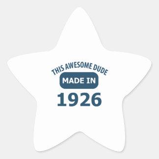 1926 birthday designs star sticker