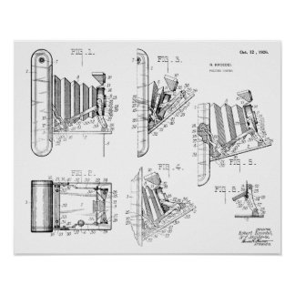 1926 Folding Camera Patent Art Drawing Print