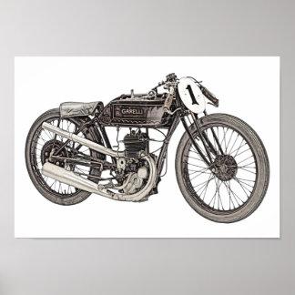 1926 Garelli 348cc Racing Motorcycle Poster
