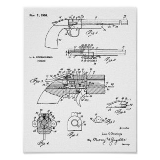 1926 Gun Patent Art Drawing Print