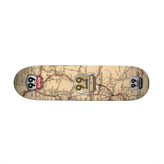 1926 New Mexico Map of Historic Route 66 Custom Skateboard