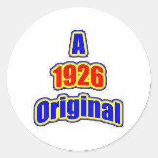 1926 Original Bl Red Round Stickers