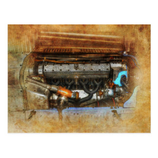 1926 Talbot Grand Prix Engine Postcard