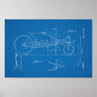 1926 Vintage Bicycle Patent Blueprint Art Print