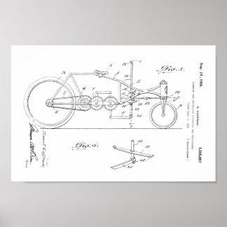 1926 Vintage Bicycle Velocipede Patent Art Print