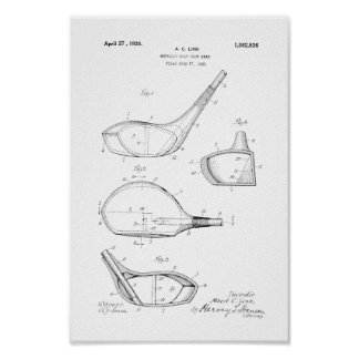 1926 Vintage Golf Club Head Patent Art Print