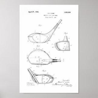 1926 Vintage Golf Club Head Patent Art Print