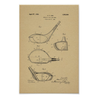 1926 Vintage Golf Club Patent Art Print