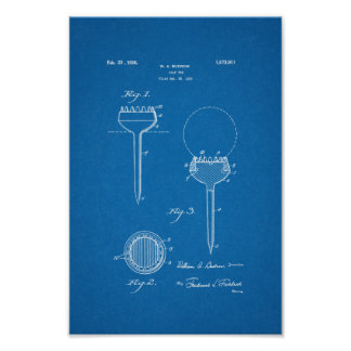 1926 Vintage Golf Tee Patent Blueprint Art Print