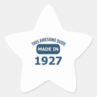 1927 birthday designs star sticker