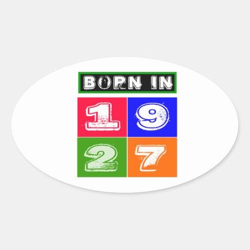 1927 Birthday Designs Oval Stickers