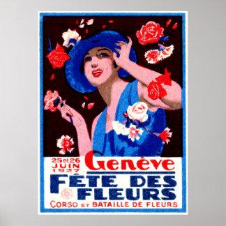 1927 Geneva Flower Show Poster