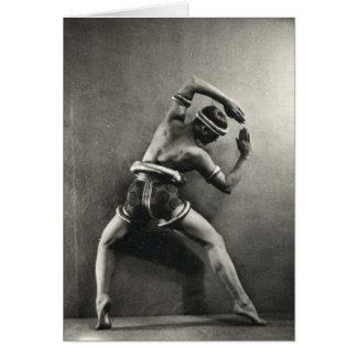 1928 Dancer Card