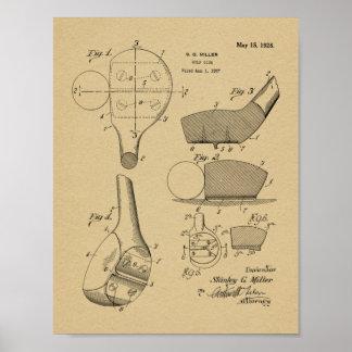 1928 Golf Club Head Patent Art Drawing Print