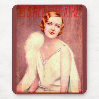 1928 Ziegfeld Theatre program cover Marilyn Miller Mouse Pad