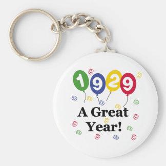 1929 A Great Year Birthday Keychain