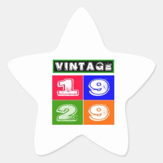 1929 Birthday Designs Star Sticker
