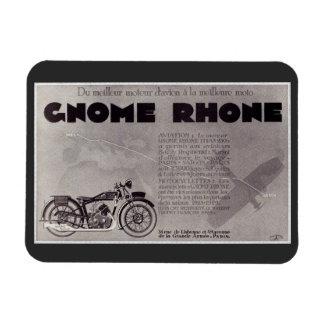 1929 French motorcycle ad , Paris Saigon Magnet