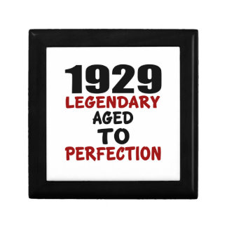 1929 LEGENDARY AGED TO PERFECTION SMALL SQUARE GIFT BOX