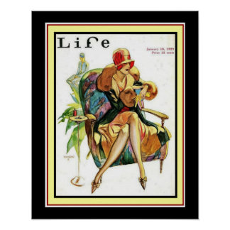 1929 Life Art Deco Cover 16 x 20 Poster