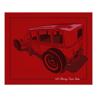 1929 Murray Towne Sedan in Red Photo Print