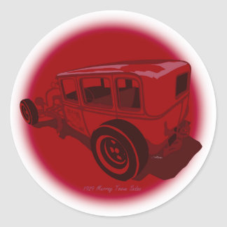1929 Murray Towne Sedan in Red Round Sticker