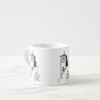 1929 Oviatt Building clock tower espresso cup