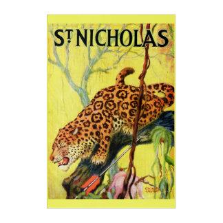 1929 St. Nicholas magazine cover leopard Acrylic Print