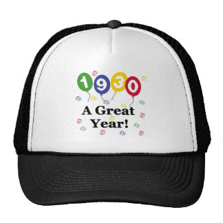 1930 A Great Year Birthday Hats