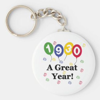 1930 A Great Year Birthday Keychains