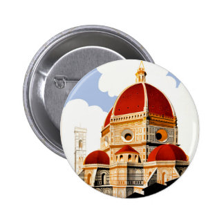 1930 Florence Italy Travel Poster 6 Cm Round Badge