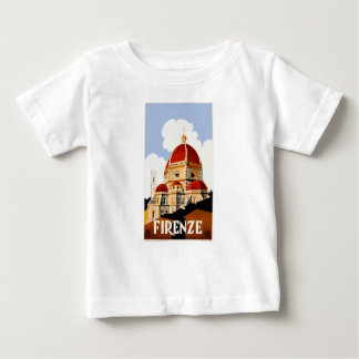 1930 Florence Italy Travel Poster Baby T-Shirt