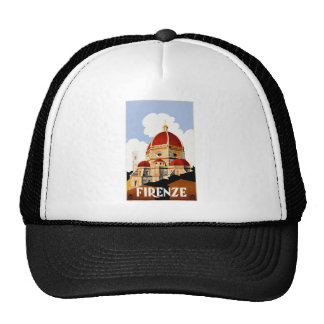 1930 Florence Italy Travel Poster Cap