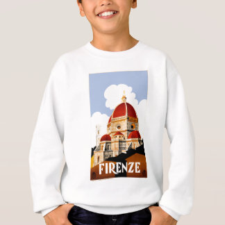 1930 Florence Italy Travel Poster Sweatshirt