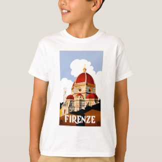 1930 Florence Italy Travel Poster T-Shirt