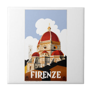 1930 Florence Italy Travel Poster Tile