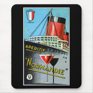 1930 French Apertif Normandie Mouse Pads