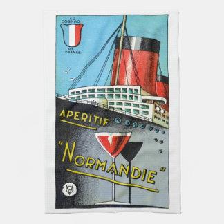 1930 French Apertif Normandie Tea Towel