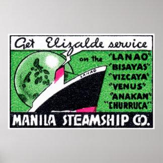 1930 Manila Steamship Company Poster